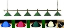 ROSETTA BRASS FULL SIZE SNOOKER TABLE LIGHTING LIGHT RAIL BAR SHADE CHOICE